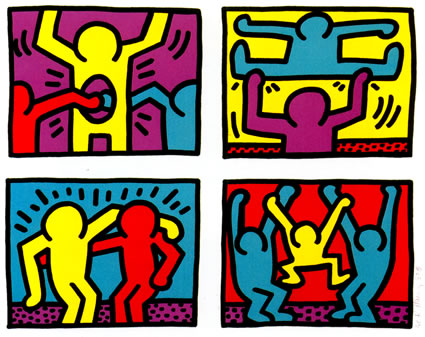 Galerie keith harring reg 39 art for Keith haring figure templates